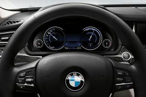 bmw 7 vehicle steering wheel car car interior