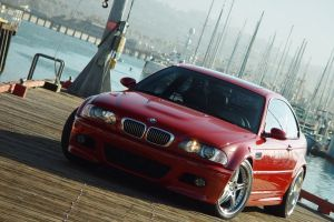 bmw e-46 car bmw m3  red cars vehicle