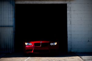 bmw red cars car vehicle
