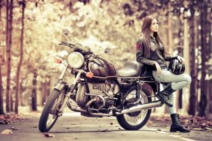 bmw women with motorcycles brunette women jeans