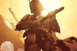 boba fett artwork star wars bounty hunter