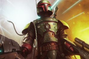 boba fett bounty hunter artwork star wars