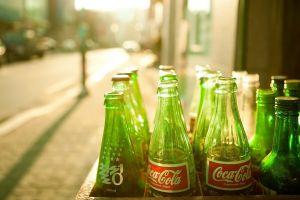 bottles urban coca-cola logo