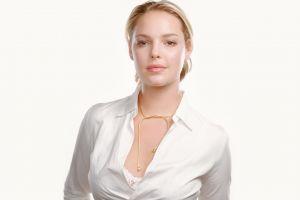 bra celebrity open shirt katherine heigl blonde actress women