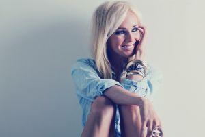 bracelets smiling simple background women model