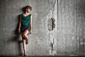 bracelets wall looking away model women legs