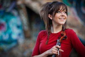 braids smiling women lindsey stirling red tops brunette happy looking away musician long hair