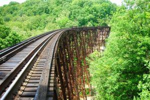 bridge abandoned railway landscape
