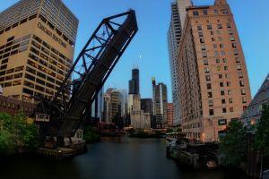 bridge chicago cityscape building