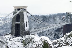 bridge snow clifton suspension bridge