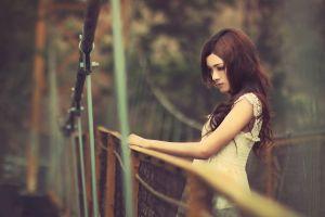 bridge women model women outdoors long hair