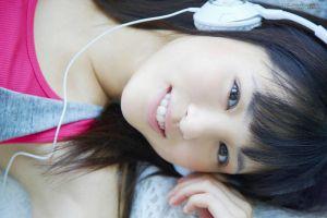 brown eyes black hair model face women asian