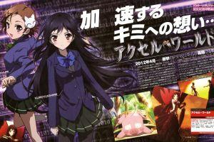 brunette anime girls dark hair chiyuri kurashima accel world kuroyukihime anime