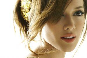 brunette hilary duff hair in face face women closeup actress open mouth