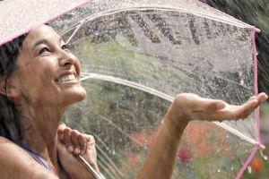 brunette model smiling women outdoors long hair water drops wet women asian looking up rain umbrella