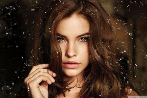 brunette women face model portrait barbara palvin