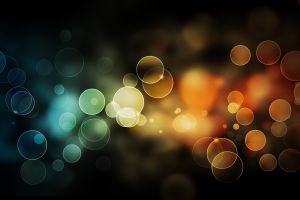 bubbles abstract bokeh colorful digital art lights