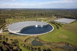 building aerial view england mclaren nature landscape architecture technology modern factories