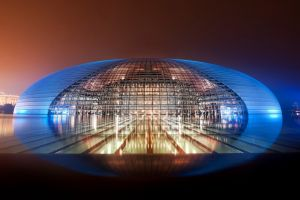 building beijing modern architecture night urban