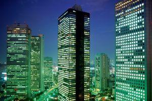 building cityscape tokyo skyscraper