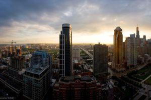 building cityscape urban skyline