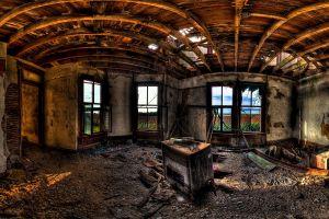 building hdr old digital art ruin abandoned