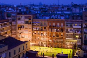 building national geographic cityscape soccer barcelona