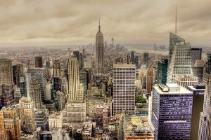 building new york city empire state building usa cityscape hdr
