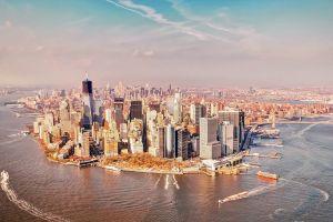building new york city skyscraper cityscape
