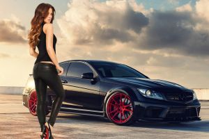 c63 amg women with cars car actress leather leggings kate beckinsale leather pants  women mercedes-benz