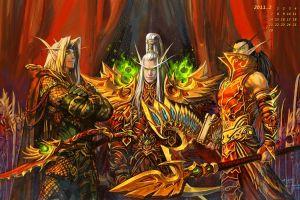 calendar blood elf video games world of warcraft yaorenwo