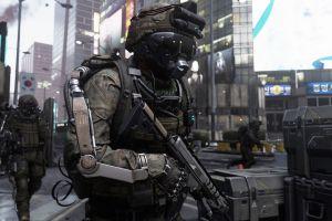 call of duty weapon video games render cgi soldier digital art call of duty: advanced warfare 2014 (year)