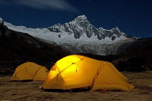 camping tent nature long exposure mountains