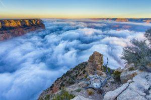 canyon nature clouds landscape