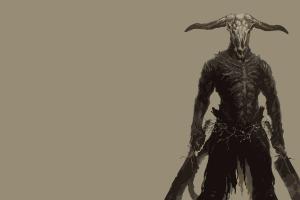 capra demon warrior dark souls fantasy art