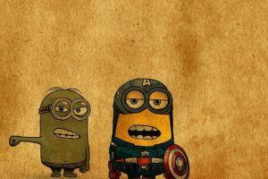 captain america grunge hulk minions humor