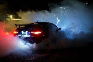 car bmw e92 m3 burnout bmw night