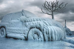 car cold ice vehicle winter