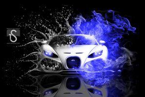 car digital art vehicle bugatti veyron artwork