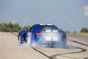 car dodge viper blue