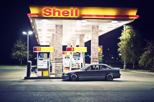 car gas stations vehicle night