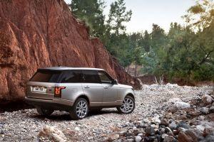 car grey cars range rover suv
