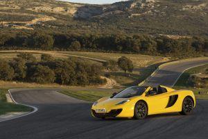 car mclaren mp4-12c race tracks vehicle mclaren mid-engine yellow cars