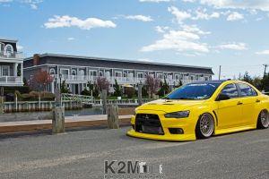 car mitsubishi mitsubishi lancer evo x yellow cars vehicle