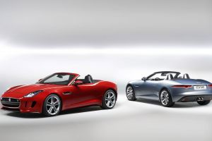 car red cars sports car cabriolet jaguar f-type
