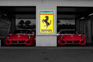 car red cars vehicle italian cars ferrari 599xx race cars