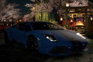 car sports car coupe blue cars lamborghini murcielago
