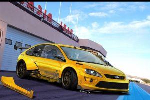 car tuning yellow
