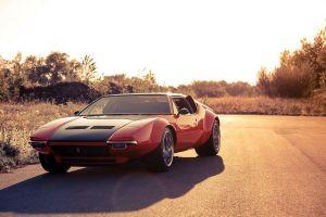car vehicle detomaso pantera red cars