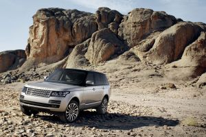 car vehicle range rover silver cars rock